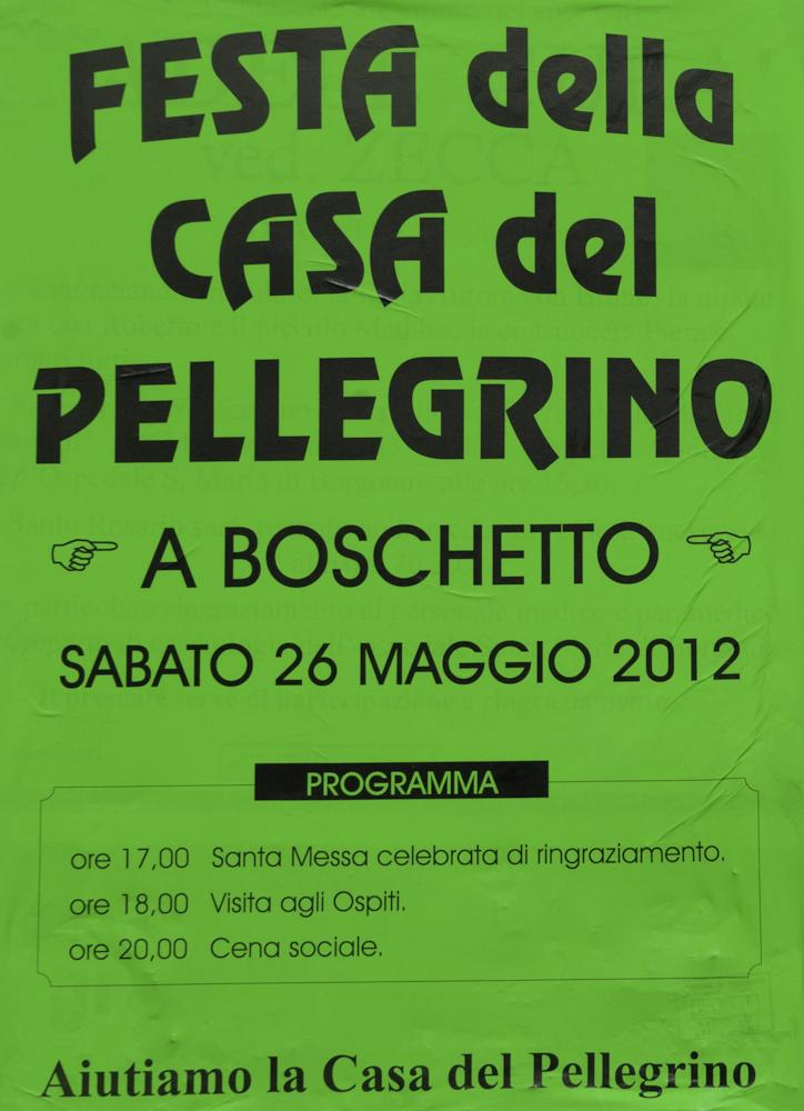 26 05 2012 boschetto la festa della casa del pellegrino for Pdf del programma della casa