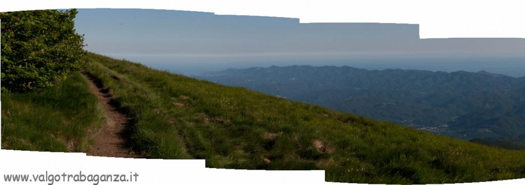 Monte Gottero - Val di Vara - Golfo della Spezia - erba fina - panoramica