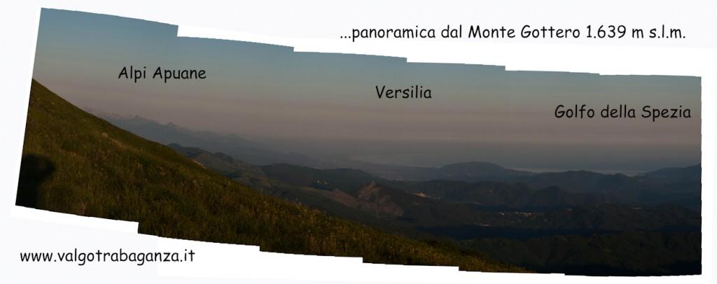 Monte Gottero - panoramica - cartolina