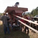 Fiera del Fungo Albareto 09-09-2012 (450) Antica trebbiatura