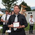 Fiera del Fungo Albareto 09-09-2012 (563) Banda Bedonia consegna targa