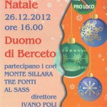 Berceto Concerto Natale 2012 Pro Loco