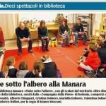 articolo correlato alla Compagnia della Pieve, Letture animate a Borgotaro Biblioteca Manara
