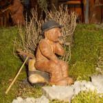 Presepe Natale 2012 se fosse Nato a Montegroppo (25) vecchio su tronchetto (u vecciu su zuchettu)