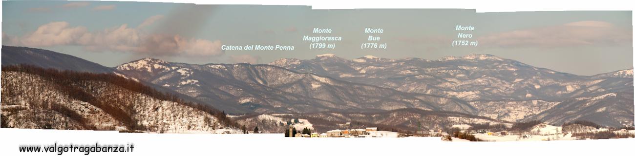 Panorama (10) Monte Maggiorasca Monte Bue  Monte Nero