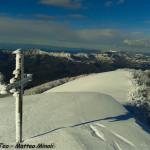 Monte Gottero neve 22-01-2013 (23) la croce