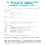 locandina Da Micheli e Borri ai giorni nostri - convegno Bedonia