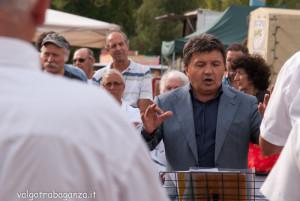 Fiera Fungo Albareto 2013 09-08 (589) Banda Concesio (Brescia) Costanzo Manza maestro