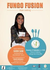 Fiera Fungo Borgotaro IGP 2013 show cooking Suien Sani