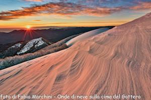 Secondo premio Fabio Marchini Onde di neve sulla cima del Gottero