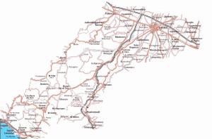 Cartina Provincia Parma