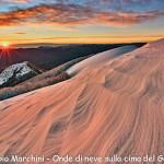 """Secondo classificato """"Onde di neve sulla cima del Gottero"""" di Fabio Marchini"""
