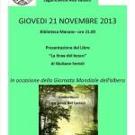 Locandina 2013 Biblioteca Manara Giuliano Serioli La linea del bosco