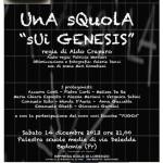 Locandina Bedonia 14-12-2013 Teatro Una squpla sui Genesis