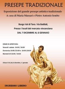 Pietro Antonio Iembo e Maria Massari Locandina presepe artistico Borgotaro Natale 2013