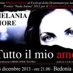 locandina Melania Fiore Tutto il mio amore Bedonia 06-12-2013