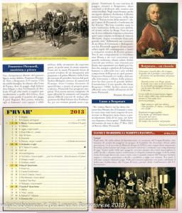 Calendario 2013 Lunario Borgotarese (105) febbraio