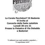 Corale Perchèno! di Bedonia 30-12-2013 locandina