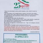 25 Aprile Festa Liberazione Albareto locandina