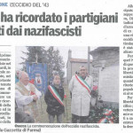Gazzetta di Parma 2014 Osacca ricordo partigiani trucidati dai nazifascisti (2)