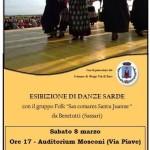"""08-03-2014 Borgotaro gruppo folk """"Sas comares Santu Juanne"""" di Benetutti (Sassari)"""