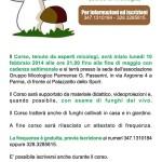 Volantino 2 Corso riconoscimento funghi 2014