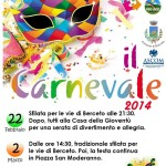 Berceto Locandina Carnevale 2014