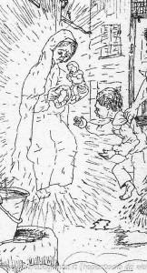 Mario Previ La Madona dal buslan (12) Borgotaro particolare - Domenica delle Palme