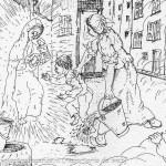 Mario Previ La Madona dal buslan (13) Borgotaro particolare - Domenica delle Palme