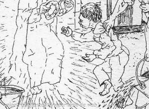 Mario Previ La Madona dal buslan (14) Borgotaro particolare - Domenica delle Palme
