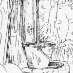 Mario Previ La Madona dal buslan (18) Borgotaro particolare - Domenica delle Palme