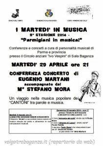Parmigiani in musica 2014 Sala Baganza 29-04-2014