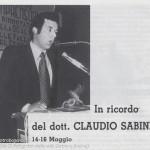 In ricordo di Claudio Sabini Albareto