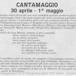 CANTAMAGGIO 30 aprile - 1° maggio (1) il Pellegrino