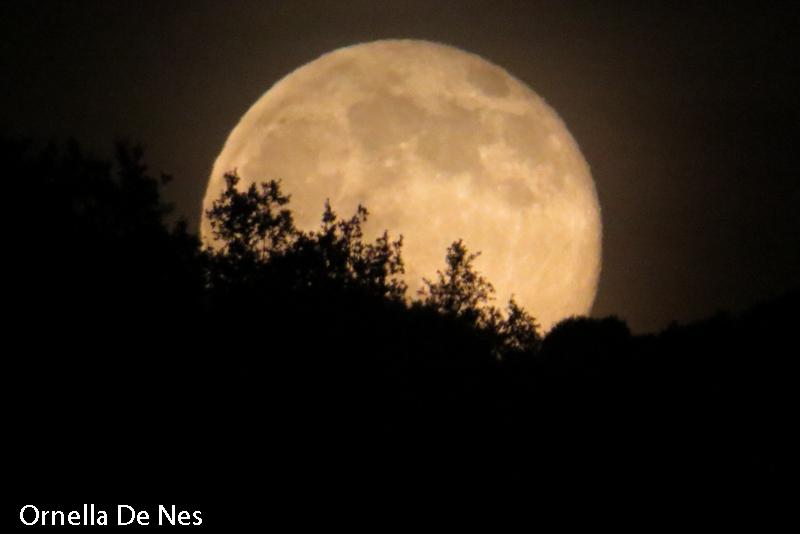 La luna piena color miele illumina il cielo della val for Mainini arreda e illumina parma pr