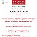 Programma premio La Quara Borgotaro