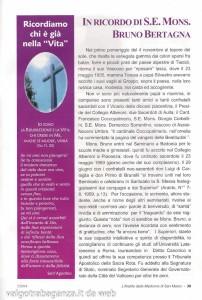 Ricordo di S. E. Mons. Bruno Bertagna (1)