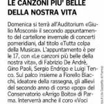 """2015-01-25 """"Tutta colpa della musica"""" articolo"""