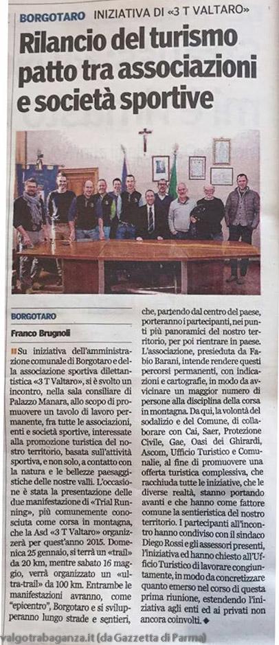 Articolo Winter Trail del Borgo 2015 Borgotaro