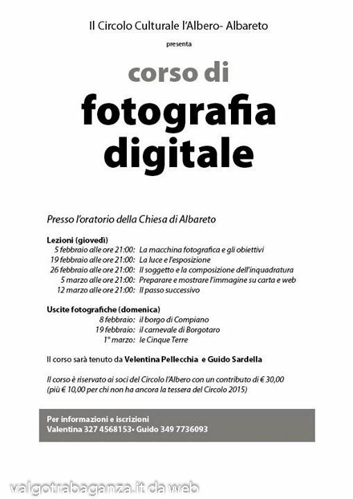 Corso Fotografico 2015 Albareto