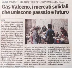 Articolo Gazzetta di Parma gruppo GAS Valceno