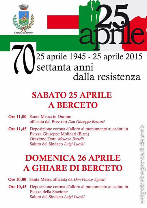 70° Anniversario della Liberazione Berceto