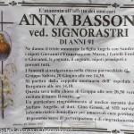 necrologio Anna Bassoni