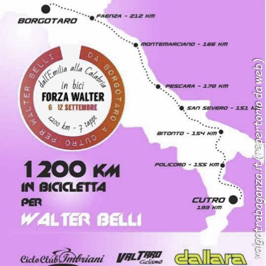 cartina Borgotaro -Cutro per Walter Belli