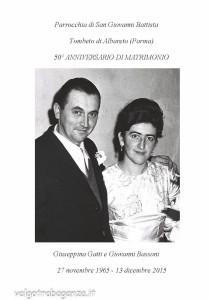 Anniversario Matrimonio Preghiera Dei Fedeli.50 Anniversario Di Matrimonio Di Giovanni Gianni Bassoni E
