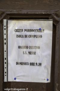 Isola Compiano (104) orario Messa