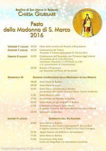 Festa della Madonna di San Marco Programma