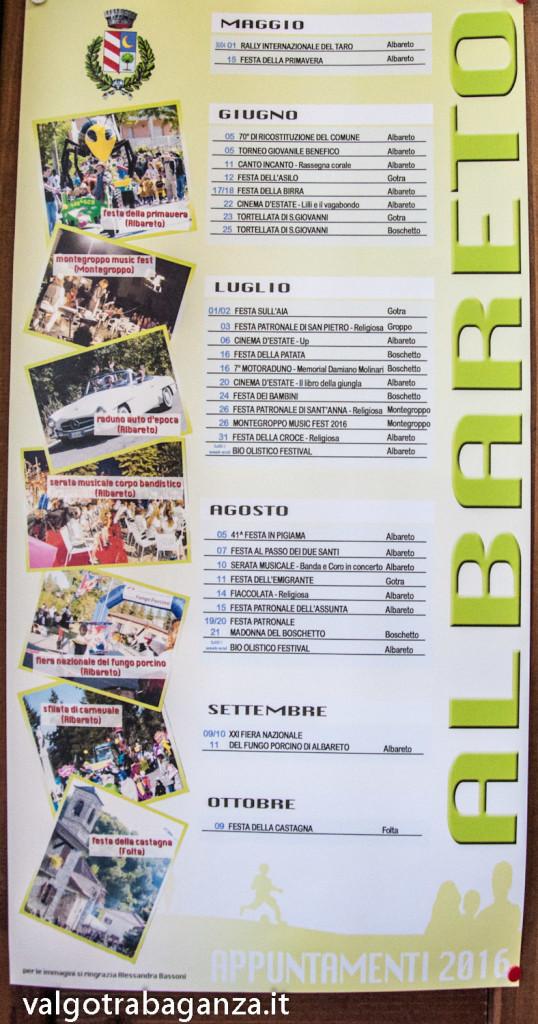 Albareto (100) Eventi 2016