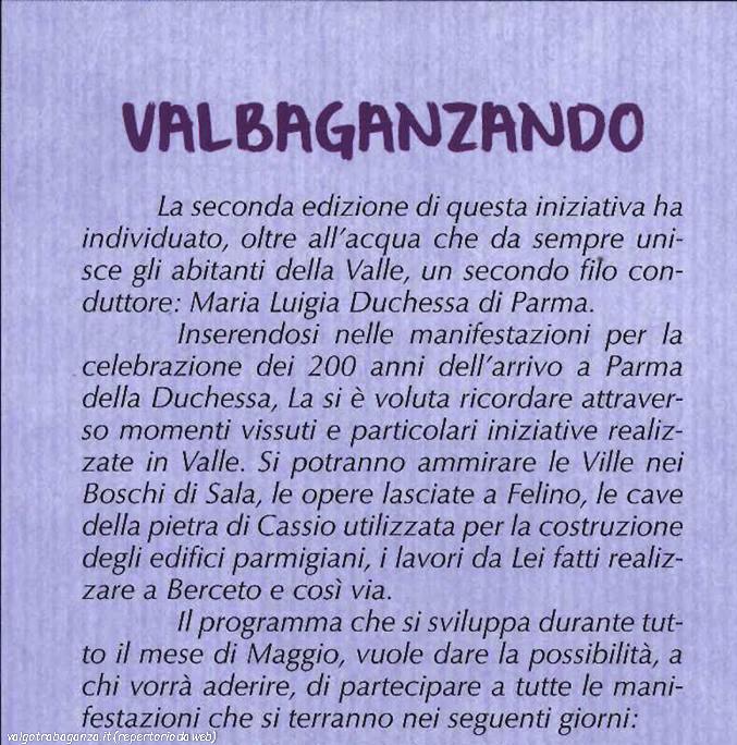 Valbaganzando (114) maggio 2016 Val Baganza