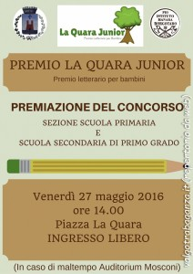 locandina 2° Premio La Quara Junior